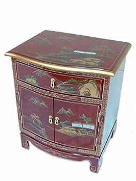 newquay bonsai rouge verni artistry design armoire oriental meuble chinois meuble art