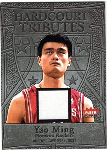 - 2004-05 Fleer Tradition Hardcourt Tributes Jerseys #12 Yao Ming Game-Worn Jersey Card - Houston Rockets