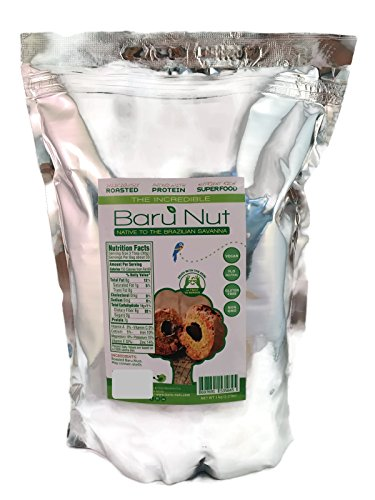 The Incredible Baru Nut , 1 Kg bag (2.2 lbs.) - Roasted in Zippable Bag