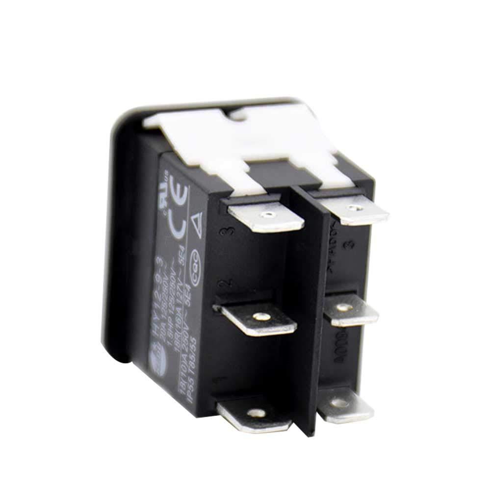 Negro Interruptor basculante para Bote de Coche ABS Matedepreso HY12-9-3 Tama/ño Libre