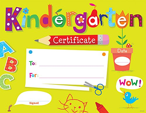 Creative Teaching Press Kindergarten Certificate