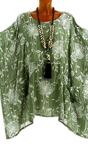 Kaki Taille Vert Grande Papyrus t Longue Vert Charleselie94 Tunique wxpqBRF