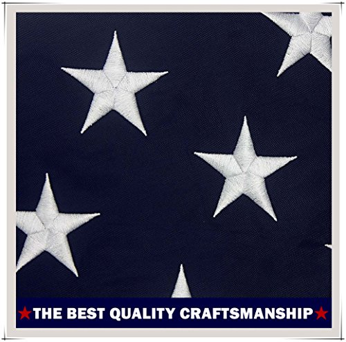 4' Collar (American Flag 4x6 ft.–Heavyweight Oxford Nylon Built for Outdoor Use, UV Protected and Featuring Embroider Stars and Sewn Stripes and Brass Grommets (4'x6'))