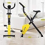 JJHOME-Pieghevole-Coperta-Cyclette-Ciclismo-Spin-Bike-Leggero-Attrezzature-Fitness-Portatile-Braccio-di-casa-Pedale-Ginnico-Palestra-Leg-Cardio-TrainingBianca