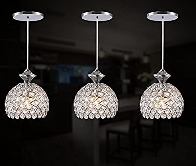 Fixture Displays 3 Lights Ceiling Pendant Lighting Modern Chandelier for Restaurant Bar Kitchen Island Dining Room 15853