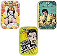 Remedios Para Desapendejar REMEDIOS MÁGICOS - 3 Pastilleros de Hojalata con Dulces del Poder BUENA VIBRA, Legí