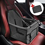 Henkelion Dog Booster Seat Waterproof Reinforce Dog Booster Car Seat Car Booster Seat for Dog Cat with Seat Belt Clip-On Safety Leash and Zipper Storage Oxford Fabric for Travel Look Out Travel Review