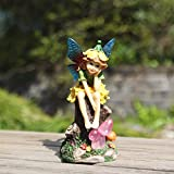 Cheap Ivy Home Solar Powered Miniature Fairy Garden Statuary for Outdoor Decor