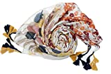 Womens Large Scarf Soft Scarves and Wraps Fashion Scarf with Handmade Fringe Wraps and Pashminas Shawls Fringe Scarf with Tassels for Autumn (color-print)