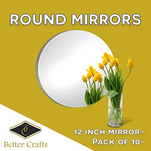 Round Mirror Centerpiece for Wedding Decorations and Dining