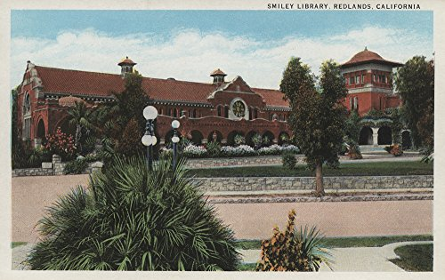 Redlands, CA - View of Smiley Library (12x18 SIGNED Print Master Art Print w/Certificate of Authenticity - Wall Decor Travel Poster)