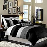 Best Legacy Decor Queen Comforter Sets - Legacy Decor 8pcs Modern Black White Grey Luxury Review