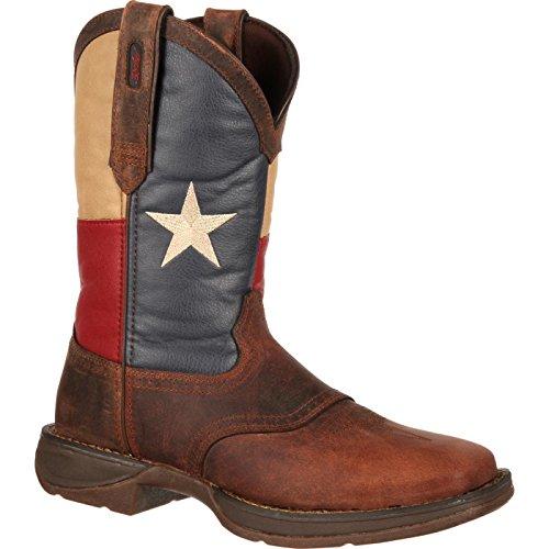 Durango Patriotic Pull-On Texas Flag Western Boots, TEXAS FLAG, 7.5M(D)