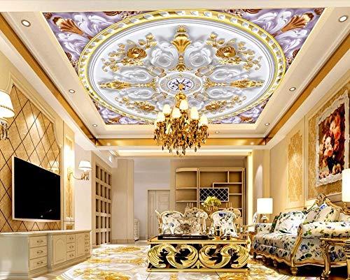Custom 3D Mural Ceiling Wallpaper Living Room Bedroom 3D Wallpaper murals Luxury Pattern Wall Papers Home Decor 3D Zxfcccky-280X200CM