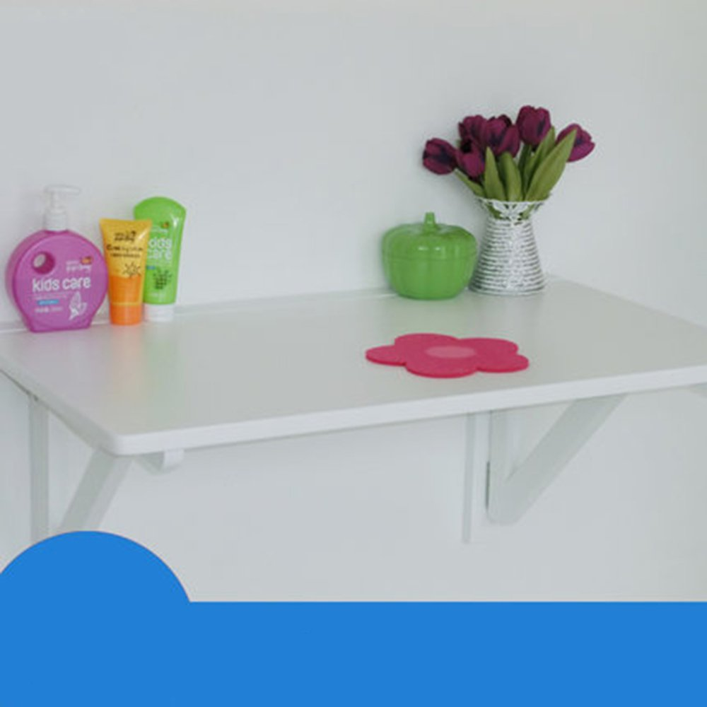 マチョン コンピュータデスク 折りたたみ可能なソリッドウッド壁掛けテーブル (色 : 白, サイズ さいず : 80cm*50cm) B07DZV7PB7 80cm*50cm|白 白 80cm*50cm