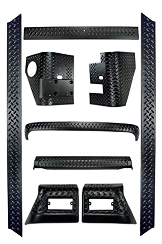 Rugged Ridge 11650.50 Black Diamond Plate Body Armor Kit