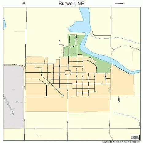 Burwell Nebraska Map.Amazon Com Large Street Road Map Of Burwell Nebraska Ne