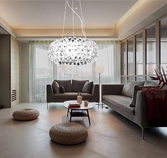 Hengda® 18W LED Modern Acryl Pendelleuchte Kreative Kronleuchter Weiß Und  Warmweiß Lüster Stilvolle Kristall Hängelampe
