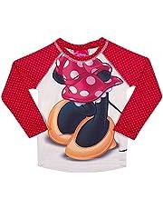 Camiseta Manga Longa Praia Minnie, TipTop, Rosa