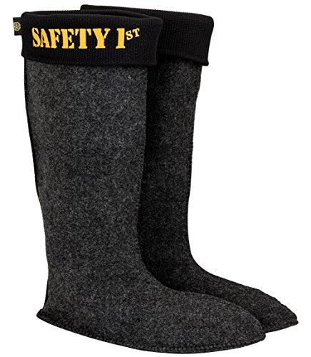 Leon Boots Co. Ultralight Men's Safety 1st EVA Non-Slip Boots, Size US 12-1/2, EU 46, Black by LBC Leon Boots Co (Image #4)