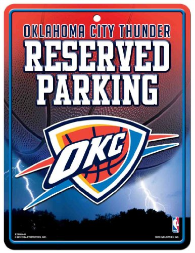 NBA Oklahoma City Thunder Hi-Res Metal Parking - Outlet Okc In