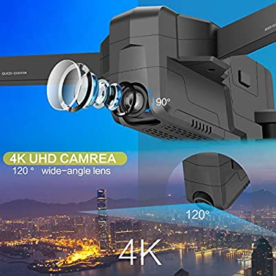 AOKESI X7 Drones with Camera for Adults 4K with 5G WiFi,Brushless Motor,GPS Return Home,Follow Me,Trajectory Flight,30mins Li-Battery and Backpack