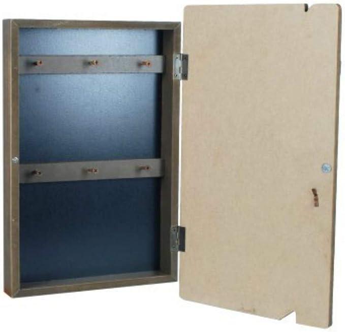 CAPRILO Caja Guardallaves Decorativa de Madera Faro Azul. Organización y Almacenamiento. Cajas Multiusos. Muebles Auxiliares. Regalos Originales. 34 x 20 x 4 cm.: Amazon.es: Hogar