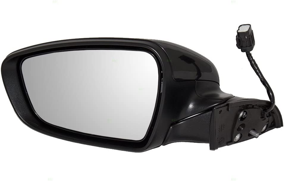 Drivers Power Side View Mirror Heated Ready-to-Paint Replacement for 14-16 Kia Forte /& Forte5 87610A7200