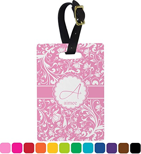 Floral Vine Personalized Rectangular Luggage - Floral Luggage Tag