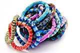 Wigspedia WHOLESALE 1 DOZEN (12 BRACELETS) RANDOM MIX OF Nepal Glass Beaded Bracelets