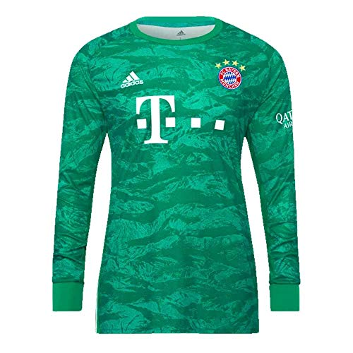 adidas 2019-2020 Bayern Munich Home Goalkeeper Football Soccer T-Shirt Jersey ()