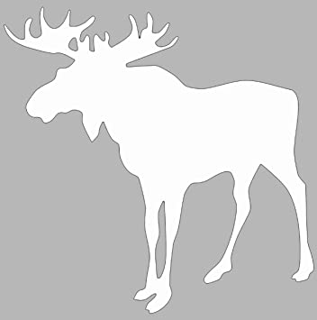 Moose decal white moose vinyl sticker moose bumper sticker hiking decal perfect