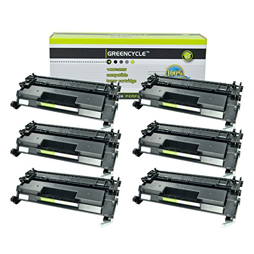 - GREENCYCEL 6 Packs Replacement for HP 26A CF226A 3100 Pages Black Compatible Toner Cartridge for Laserjet Pro M402 M426 M402n M402dn M402dw MFP M426fdw MFP M426fdn M402d MFP M426dw Series Printers