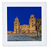 3dRose Danita Delimont - Churches - Italy, Sicily, Cefalu, Cefalu Cathedral completed in the 12th century - 12x12 inch quilt square (qs_277649_4)