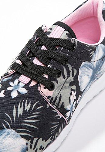 Le Baskets Et Baskets De Le De Noir Avec Baskets Dames Solides Haut Anna Femmes Sur Terrain Basses Style L'attitude Floral Basses Impression Doux Et Sauvage À rxTBwqYx