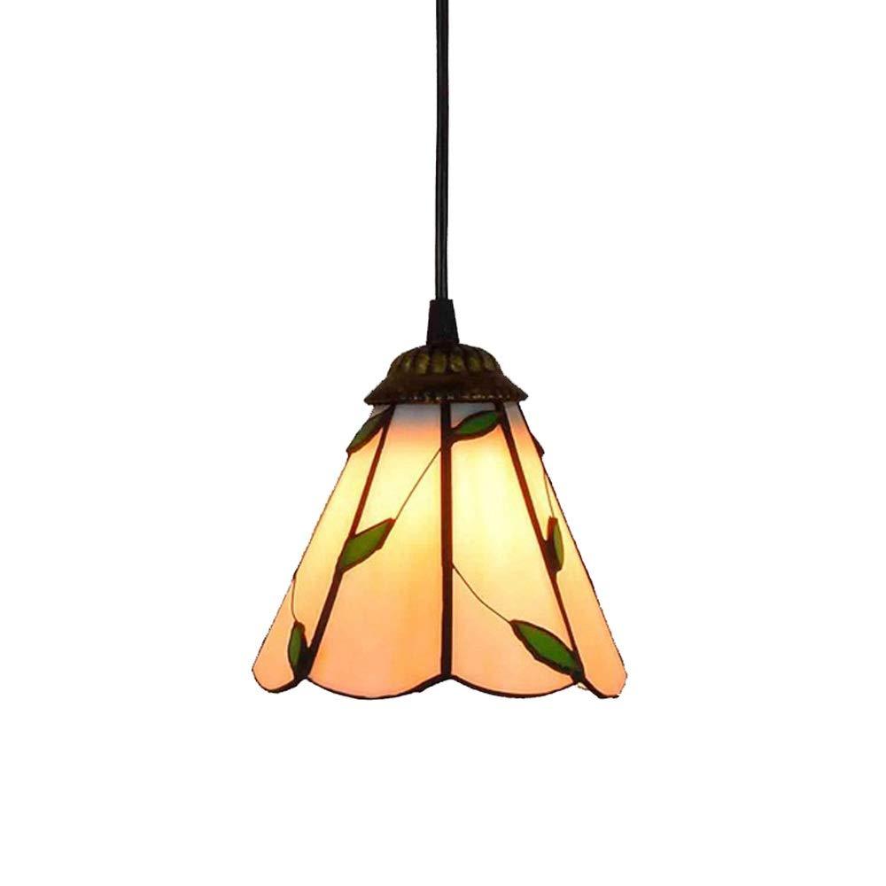 HZC Pendant Track Lighting Fixture-Glass Tiffany Colorful Glass Shade Pendant Lighting Bedroom Living Room Ceiling Chandelier