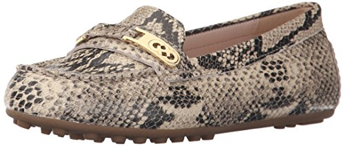 Cole Haan Women's Isabeli Driver Slip-on Loafer, Roccia Snake Print, 5 B - Cole Shoes Haan Driving Women
