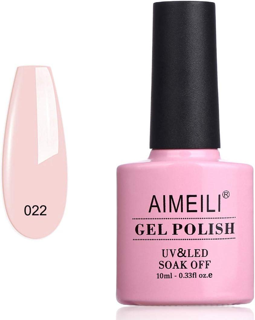 AIMEILI Esmalte Semipermanente De Uñas Soak Off UV LED Uñas De Gel - Rose Nude (022) 10ml