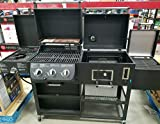 NEW PRO SERIES SMOKE HOLLOW 4 IN1 COMBO GAS,CHARCOAL 3BURNER GRILL,MODEL#PS9900 Pro Series