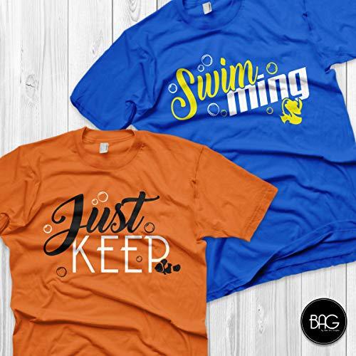 Disney Couples Shirts Just keep swiming Matching Shirts Finding Nemo shirts Vacation T Shirts Couple matching shirts -