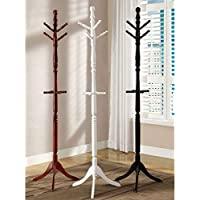 247SHOPATHOME IDF-AC6211BK Free-Standing-Coat-Racks, Black