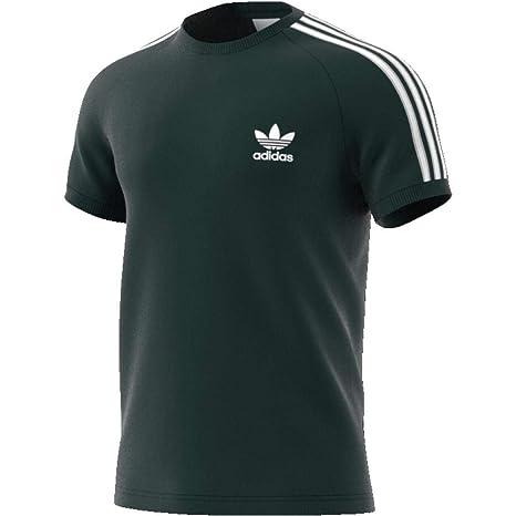 Adidas 3-Stripes tee Camiseta, Hombre, Verde (vernoc), 2XL