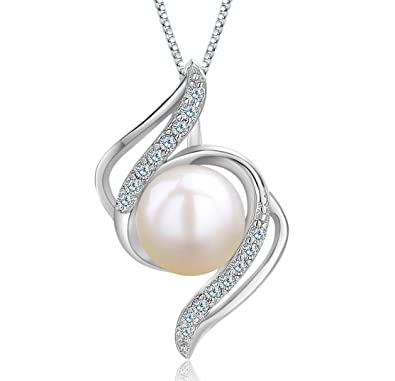 Pendentif collier perles d'eau douce cultivée en argent bijou pour femme