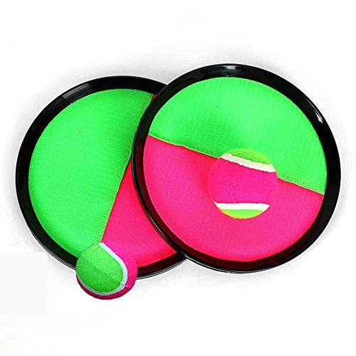 Toss and Catch Ball Game with Disc Paddles, Toptik Paddle Tennis Toy With tow ball Throwing Sport Toy, Geat famaily game in Indoor Or Outdoor Beach, Lawn or Backyard by TOPIK