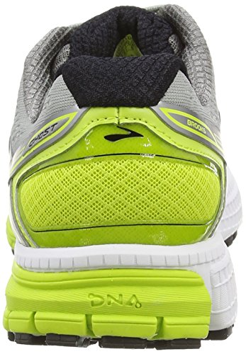 BrooksGhost 8 - Zapatillas de running hombre Metallic Charcoal/Lime Punch/Silver