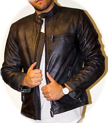 Italian Leather Motorcycle Jacket - 8