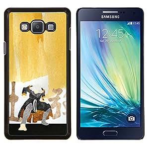 Caucho caso de Shell duro de la cubierta de accesorios de protección BY RAYDREAMMM - Samsung Galaxy A7 A7000 - Pintura del samurai
