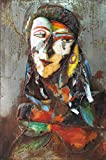 Empire Art Direct ''Homme 1'' Mixed Media Hand Painted Iron Wall Sculpture by Primo