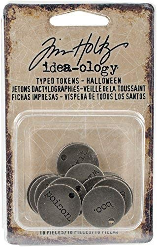 Tim Holtz Halloween Idea-ology, Typed Tokens Halloween