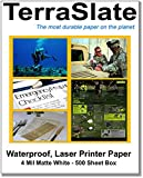 TerraSlate Paper 4 MIL 8.5'' x 11'' Waterproof Laser Printer/Copy Paper 500 Sheets